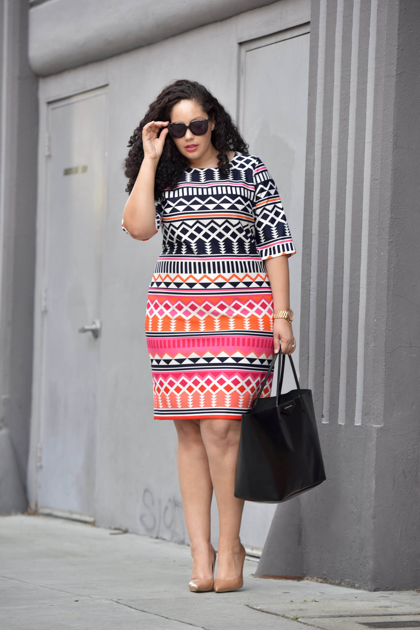 Print Shift Dress, Tanesha Awasthi