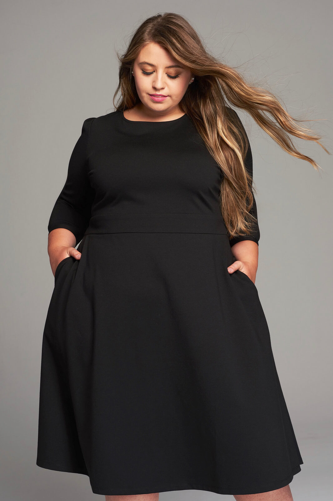 Girl With Curves Fall 2017 Little Black Dress Close Up