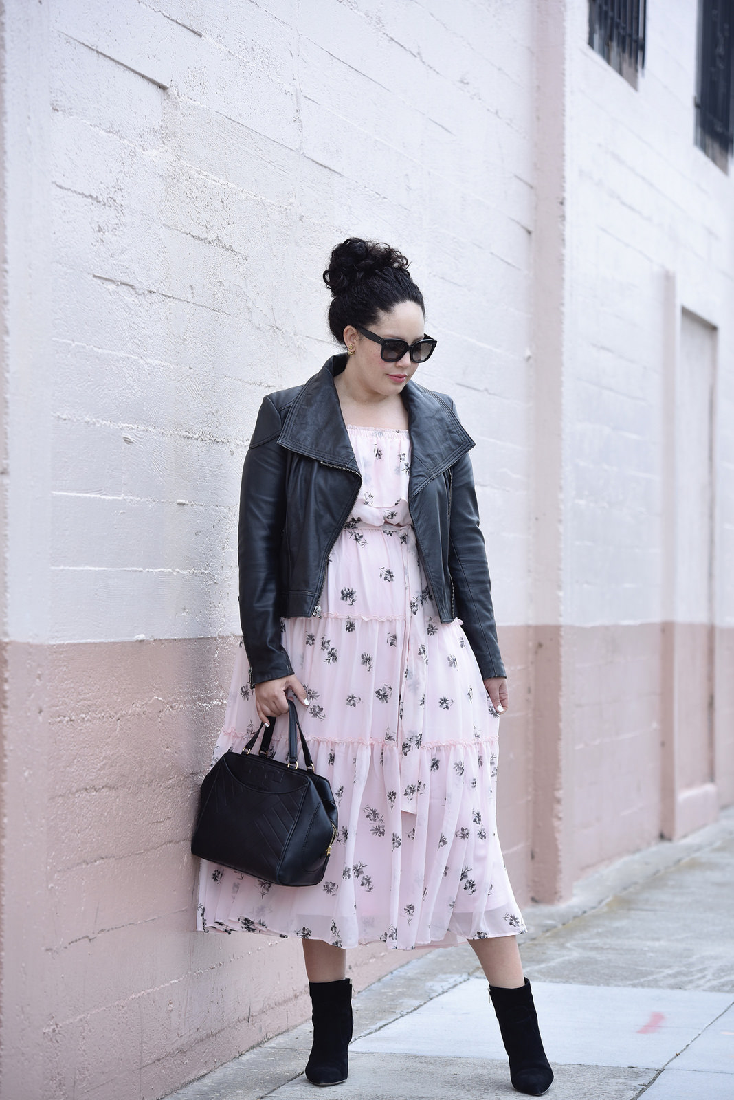 An Easy Way To Make A Floral Dress More Interesting Via @GirlWithCurves
