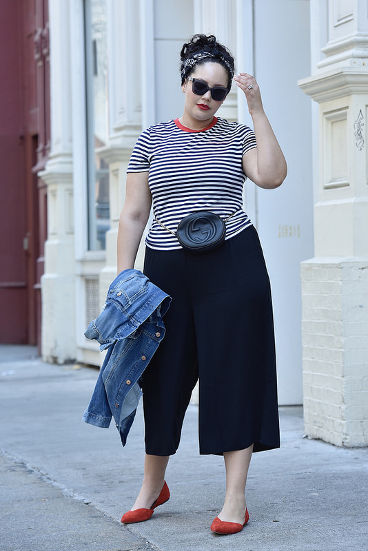 Proof You Need a Pair of Culottes via @GirlWithCurves #style #fashion #outfits #ootd