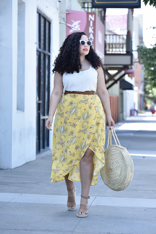 The Must Have Skirt Of The Season Via @GirlWithCurves #fashion #outfits #style