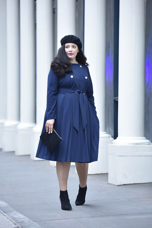 Girl With Curves X Lane Bryant Collection Pleated Trench Dress Via @GirlWithCurves #GWCxLB