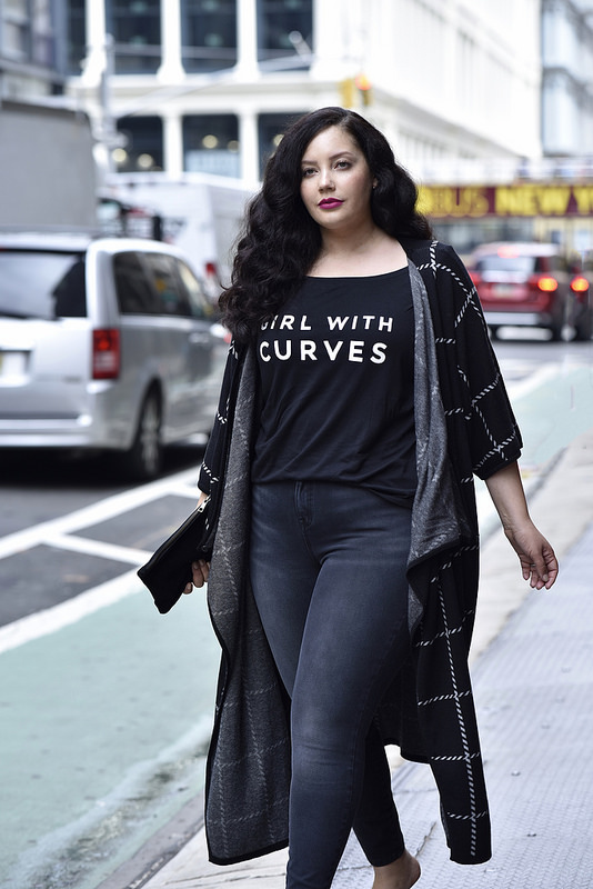 Girl With Curves X Lane Bryant Collection Wrap Poncho With Faux Leather Belt Via @GirlWithCurves #GWCxLB
