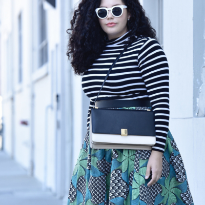 Here's Why You Need A Printed Skirt Via @GirlWithCurves #ootd #plussize #blogger #plus #size