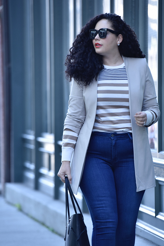 This Blazer Flatters Every Body Via @GirlWithCurves #fashion #style #blogger #outfits #work #blazer