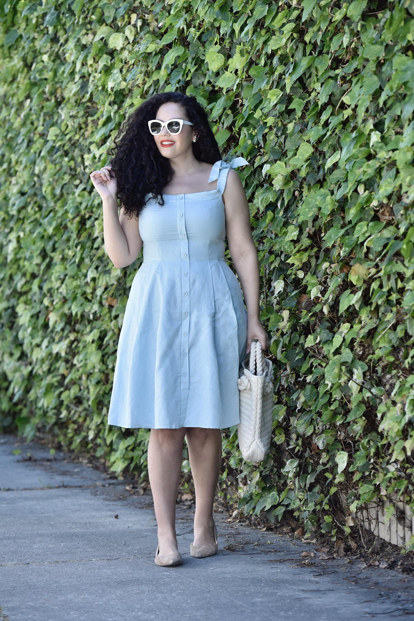 7 Sundresses To Shop Now Via @GirlWithCurves #sundress #dress #summer #blue #sleeveless