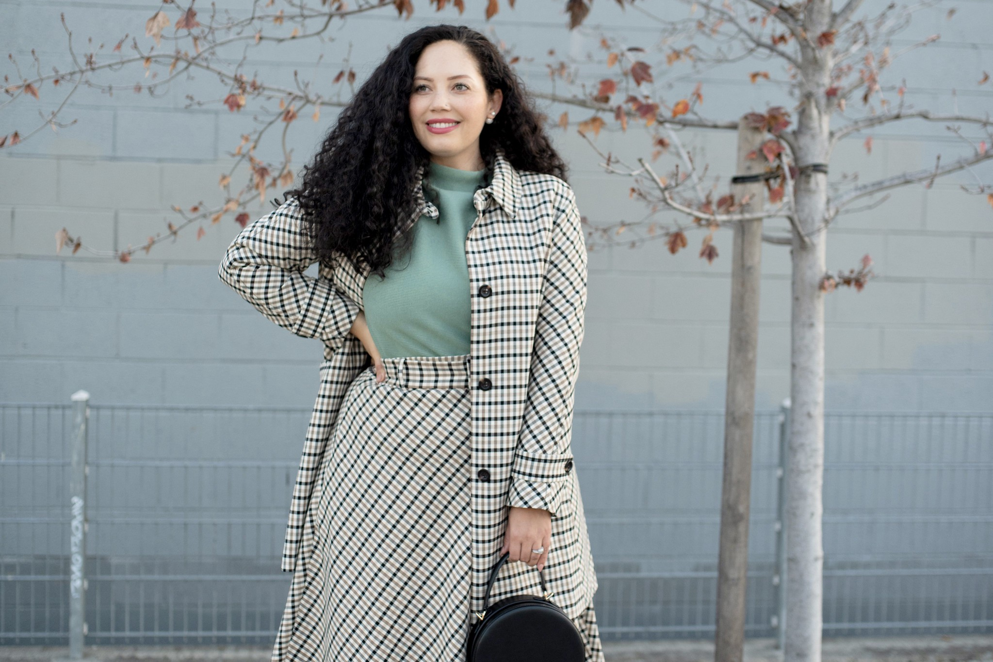 My Favorite Suit of the Season via Girl With Curves #plaid #skirt #officewear #modcloth